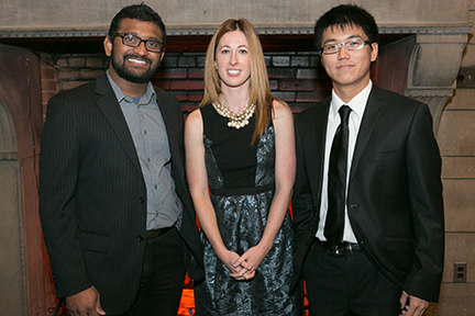 Graduate Students Hari Kaluri, Kacey Anderson, and Tao Long.