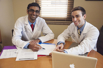 Devanathan and Turco Win 1st Round Clinical Skills Competition
