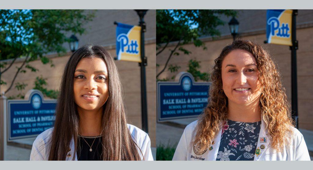 Students Niti Patel and Brittney Stottlemyer