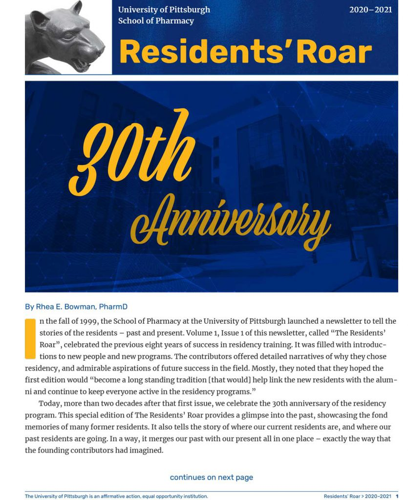 Resident's Roar 30th Anniversary Edition Title Page