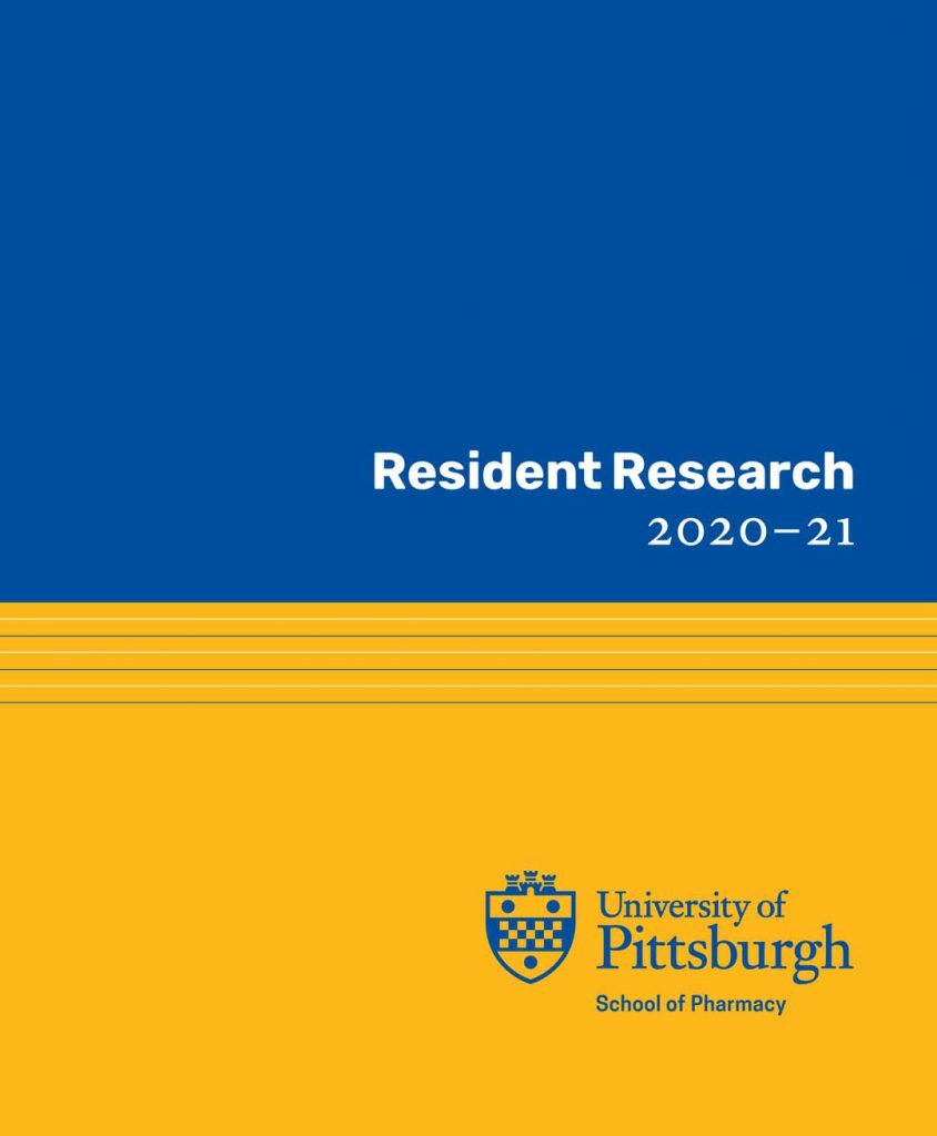Resident Research Book '20-'21 Cover